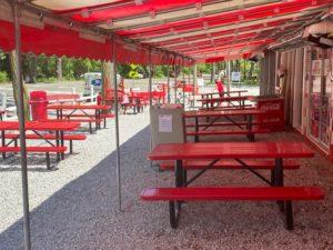 Sara's outdoor seating